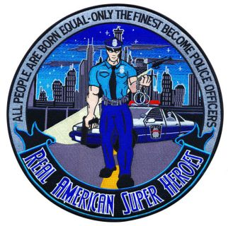 "Police Officer: American Super Heroes - 12""Circle-"