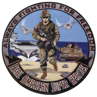 "Military: American Super Heroes - 12""Circle-"