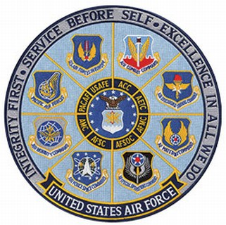 "USAF - Integrity First - Full Color - 12""Circle"