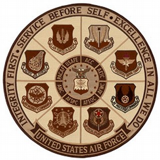 "USAF - Integrity First - Desert - 12""Circle-"