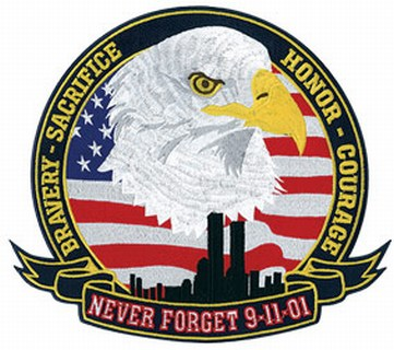 "Never Forget 9-11-01 - 12""Wide-"
