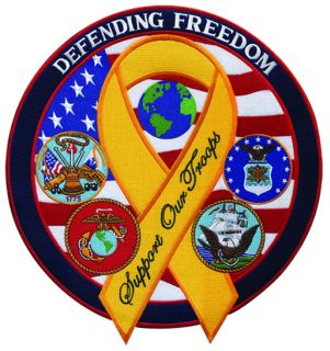 "Defending Freedom w/ribbon - 12""Wide-Hero's Pride"