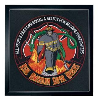 "Firefighter: American Superhero - 12""Circle - Framed-"