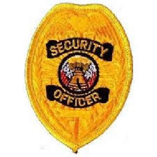 Security Officer - Gold Badge - 2-3/8 X 3-1/2-Hero's Pride