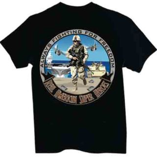 Military: American Superhero - T-shirt