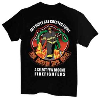 Firefighter: American Superhero - Long Sleeve T-shirt