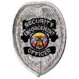 "Security Enforcement Officer - Silver Badge - 2-3/8 X 3-1/2""-Hero's Pride"