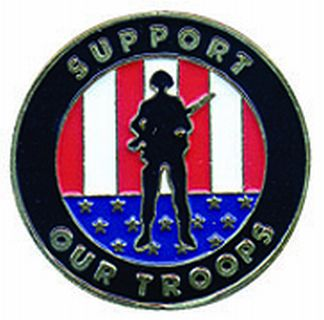 "Support Our Troops (soldier) - 1""Circle-"