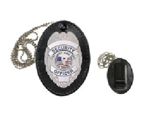 Universal Oval Badge Holder With Hook Fast Closure-Hero's Pride