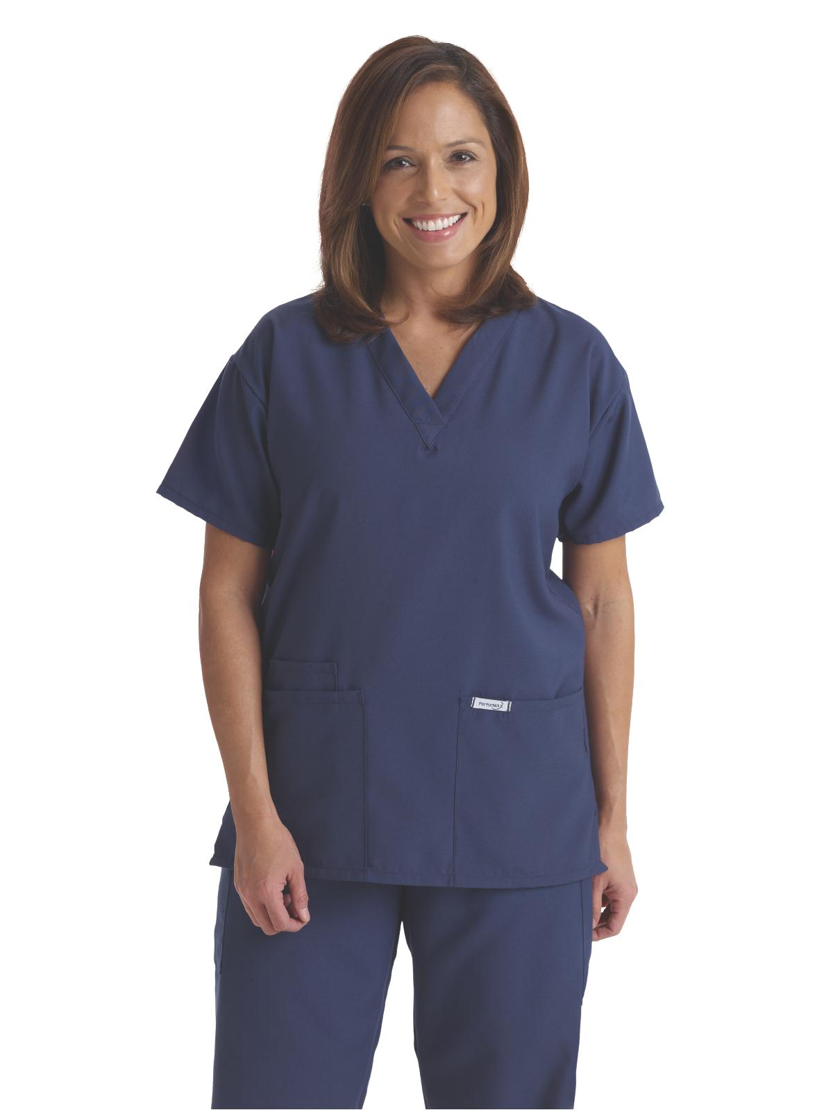 100Poly Unisex Tunic 2 Pocket Scrub Top-Medline