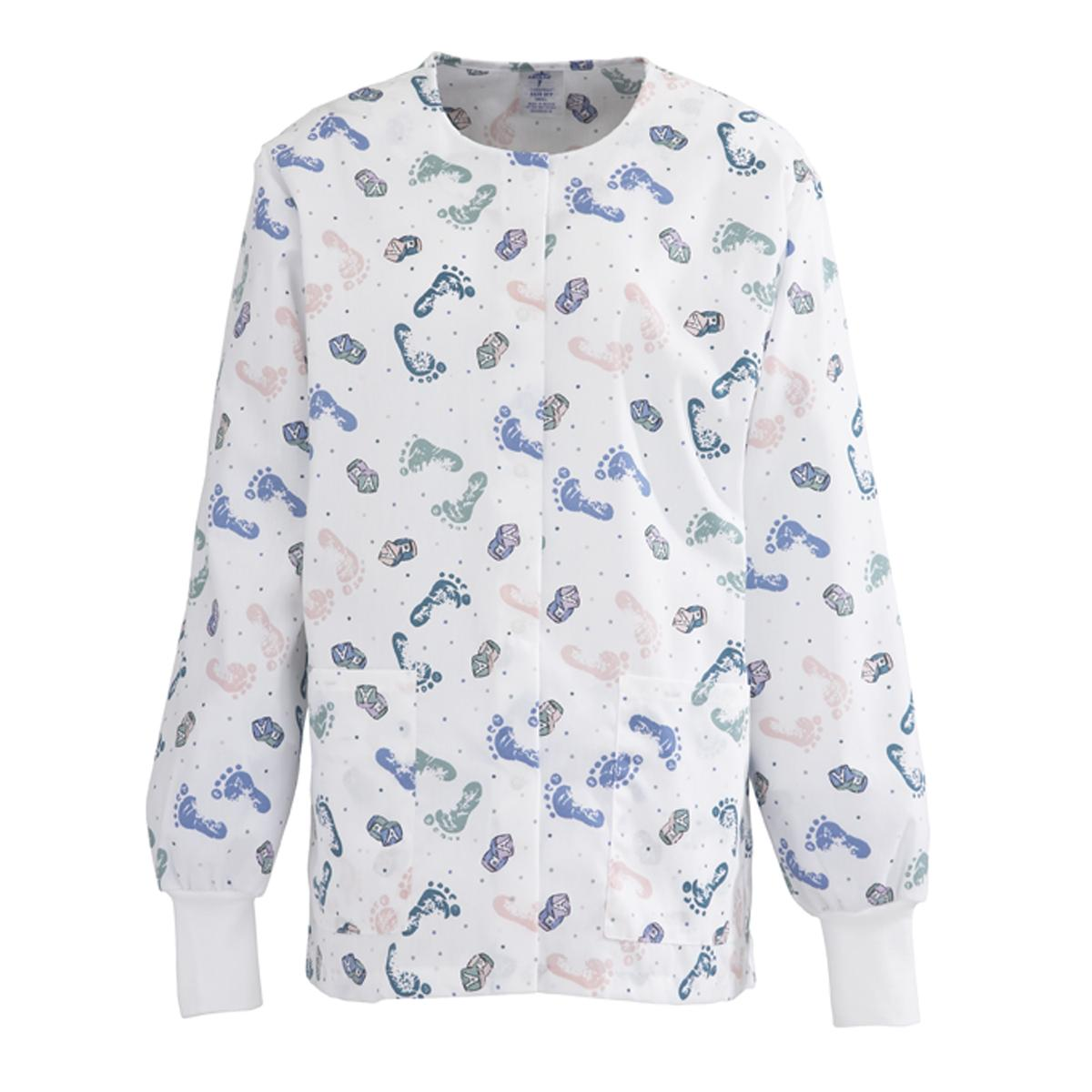 Comfortease Print Cardigan Style Warm-up Jacket-Medline