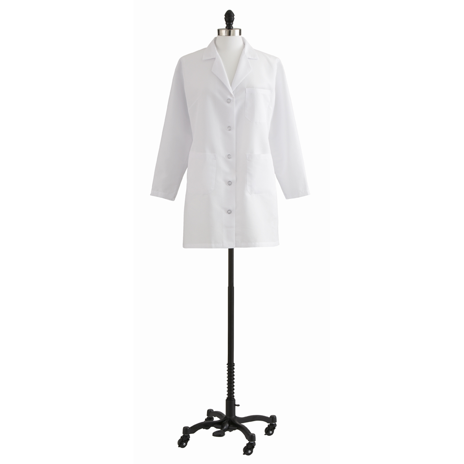 Ladies Staff Length Lab Coat W/ Breast Cancer Ribbon Embroidery-Medline