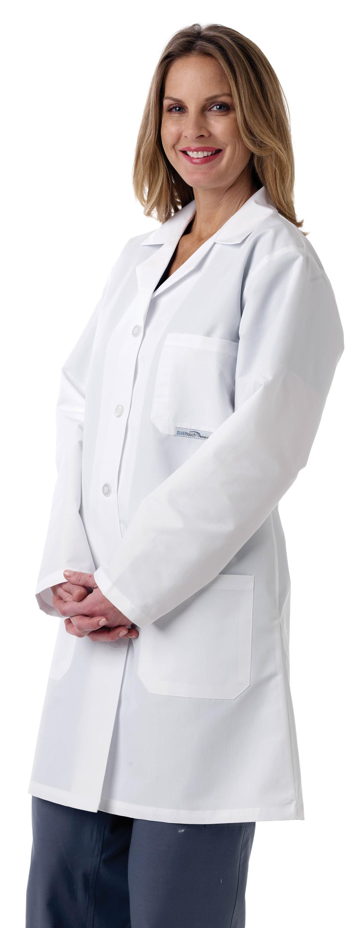 Ladies Full Length Lab Coat-Medline