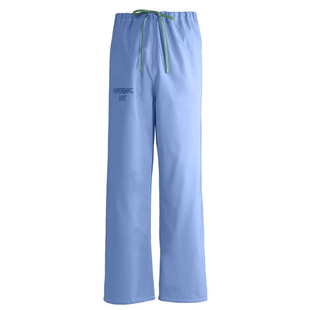 Unisex Reversible 100% Cotton Hyperbaric Scrub Pants-