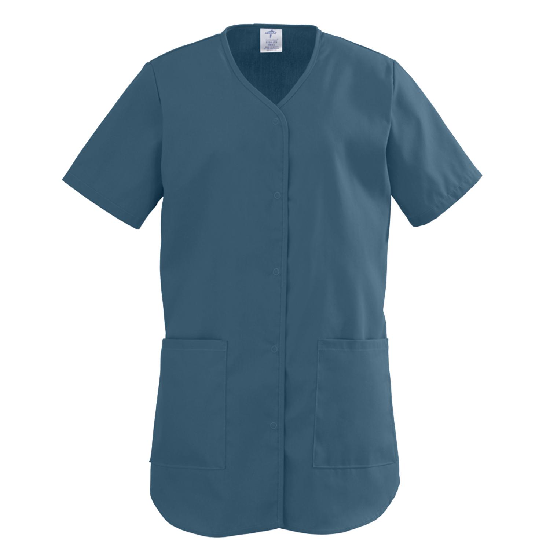 ComfortEase Ladies Shirttail Scrub Top-