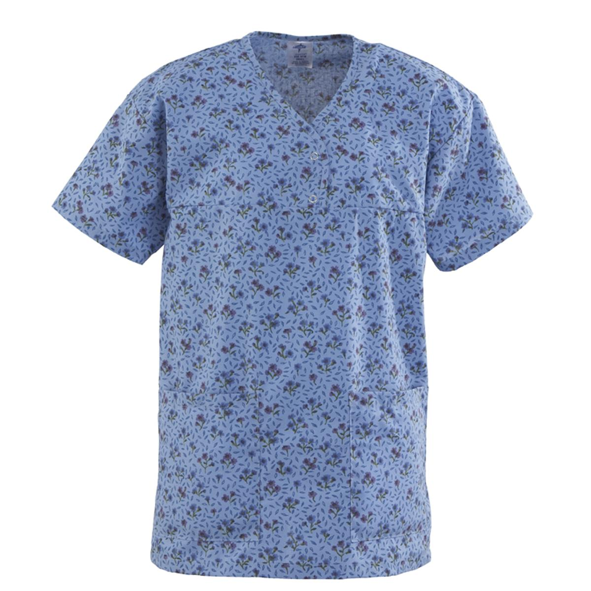 Angelstat Ladies Two Snap Henley Scrub Top-Medline