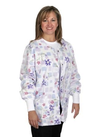 Angel Stat Tile Blossom Snap Front Warm-up Jacket-