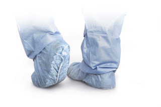 Standard Polypropylene Non-Skid Shoe Covers-Medline