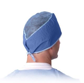 Disposable Surgeon's Caps,Dark Blue,One Size Fits Most-Medline