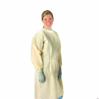 AAMI Level 2 Isolation Gowns,Yellow,Regular/Large-Medline