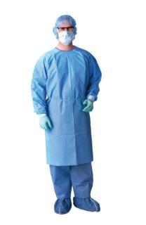AAMI Level 3 Isolation Gowns,Blue,Regular/Large-Medline