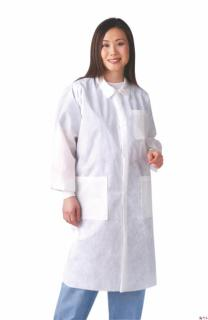 Disposable Knit Cuff / Traditional Collar Multi-Layer Lab Coats-Medline