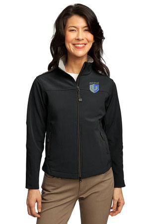 Drone U Embroidered Port Authority® Ladies Glacier® Soft Shell Jacket.-Port Authority