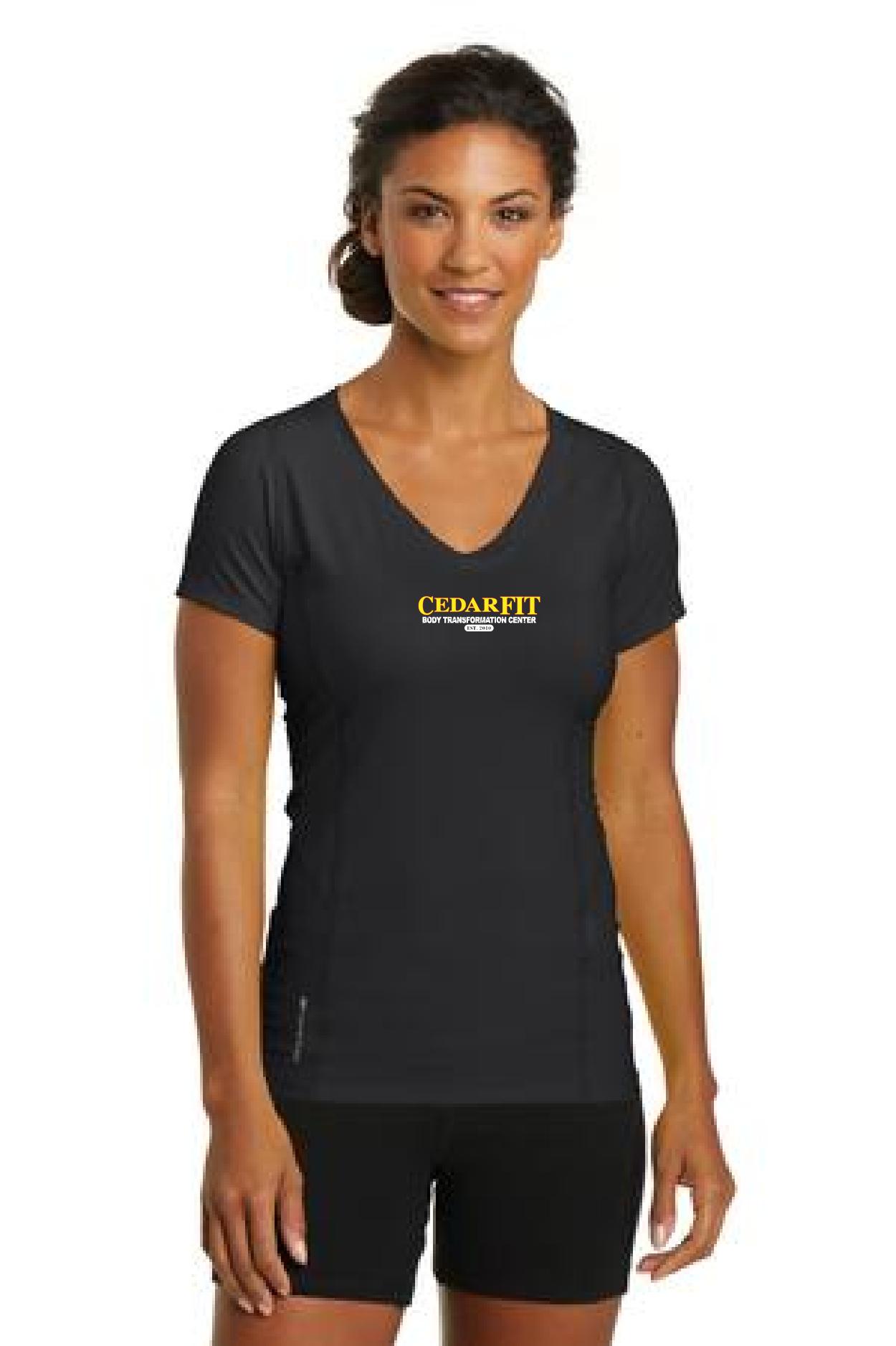 Cedar Fit OGIO® ENDURANCE Ladies Nexus V-Neck.-OGIO
