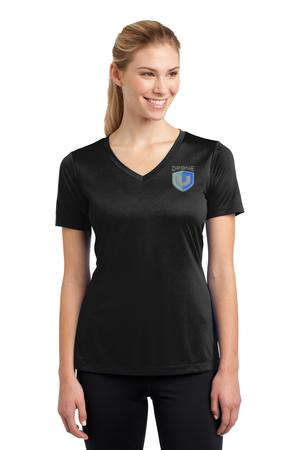 Drone U Embroidered Sport-Tek® Ladies PosiCharge® Competitor V-Neck Tee.-Sport-Tek