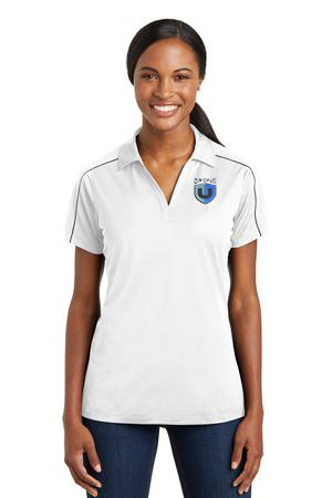 Drone U Embroidered Sport-Tek® Ladies Micropique Sport-Wick® Piped Polo.-Sport-Tek