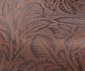 Brown Floral Tooled