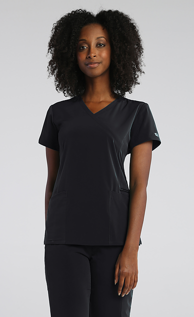 IRG Elevate Mock Wrap Top