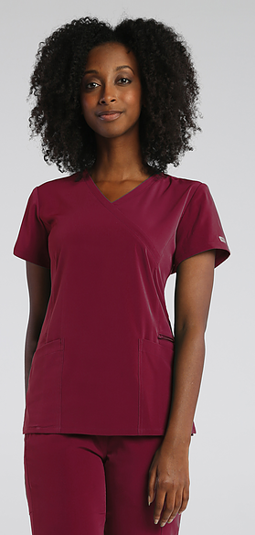 IRG Elevate Women's Mock Wrap Top-Raley Scrubs