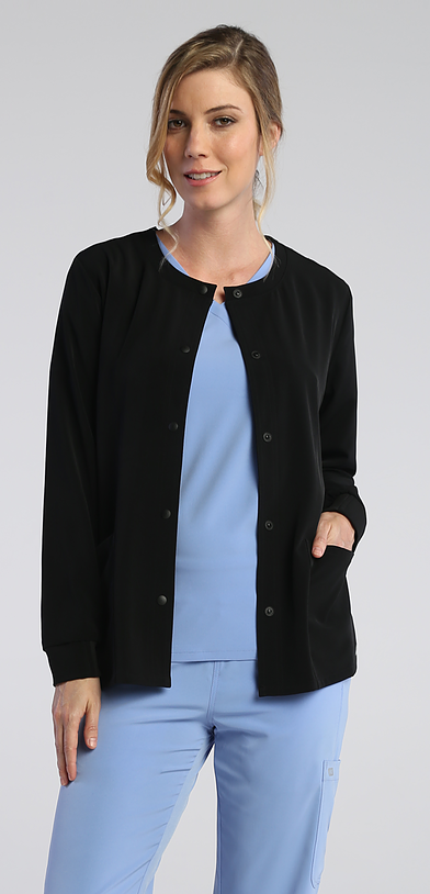 IRG Elevate Snap Front Jacket-Raley Scrubs