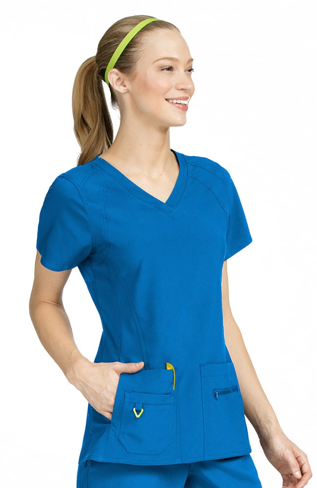 Activate by Med Couture Women's Refined V-Neck Solid Scrub Top-Med Couture