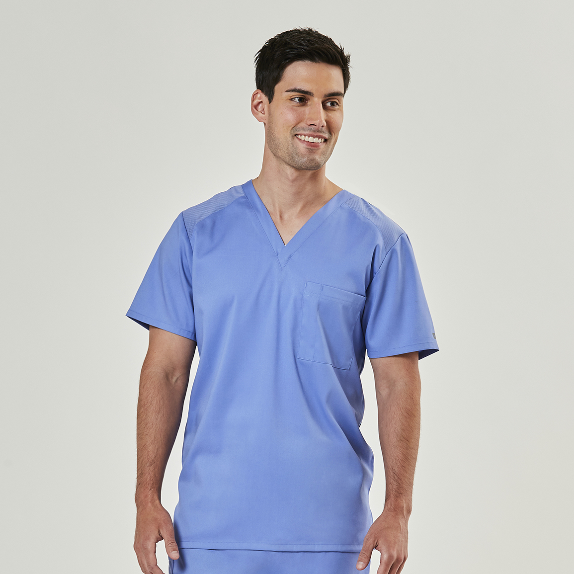 Men's EDGE Mesh Panel V-Neck Top-Raley Scrubs