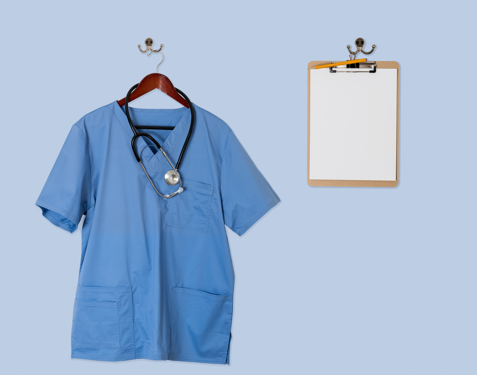 Blue Scrubs on Hanger
