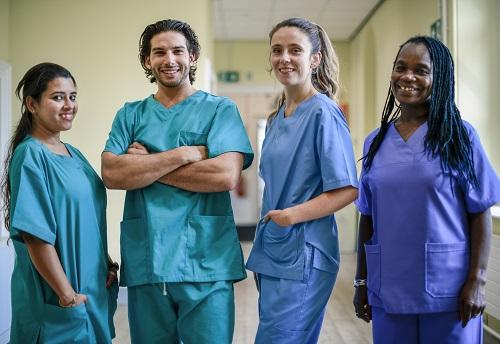 Medical Team Wearing Scrubs
