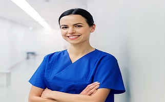 Woman Wearing Medical Scrubs