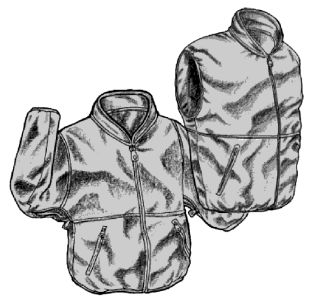Micro Fleece Zip In Jacket