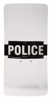 "Peacekeeper Clear Riot Shield w/ Custom-Molded Ambidextrous Handle, 20"" x 36""-Monadnock"