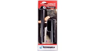AutoLock-22 w/360° Basketweave Holder, Hindi Baton Cap With Foam Grip-Monadnock