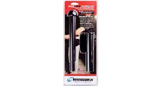AutoLock-22 w/ 45° Basketweave Holder, Hindi Baton Cap With Super Grip-Monadnock