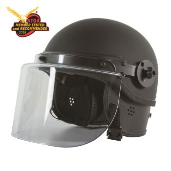 Half Shell Non-Ballistic Riot Helmet with Face Shield-