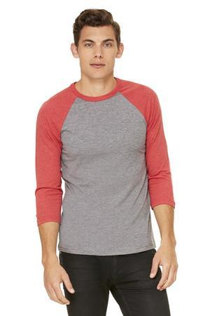 Bella + Canvas® 3/4 Sleeve Baseball Tee-Bella + Canvas®