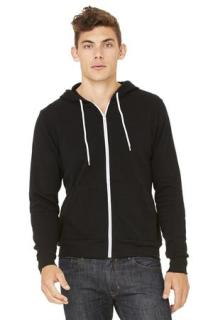 Bella + Canvas® Poly-Cotton Fleece Full Zip Hoodie-Bella + Canvas®