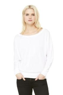 Bella + Canvas® Flowy Long Sleeve Off-Shoulder Ladies' Tee-Bella + Canvas®