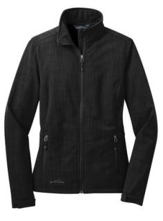 Eddie Bauer® Shaded Crosshatch Soft Shell Ladies' Jacket-Eddie Bauer®