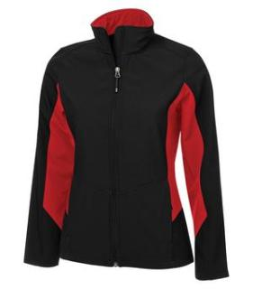 Coal Harbour® Everyday Colour Block Soft Shell Ladies' Jacket-Coal Harbour®