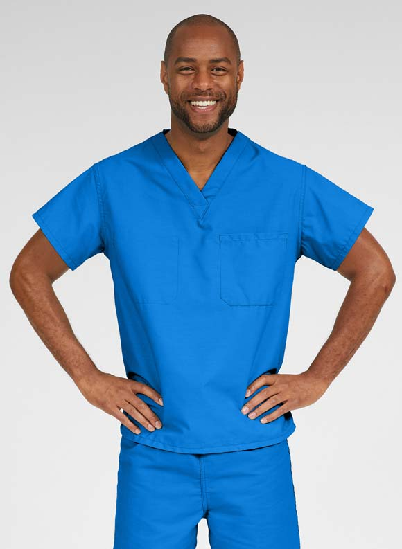 V Neck Scrub Top-Medline